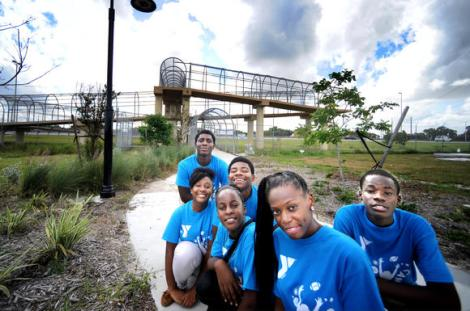The students are Shanna Virgile,  Chennel Whyte, Jasmine Carter,Kevon Bachelor, Khadeem Lozier and Kervens Jean Louis. (Robert Duyos / Sun Sentinel / August 2, 2013)