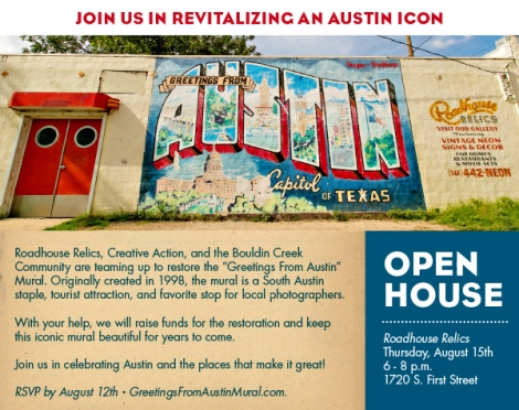 Community comes together to repair now iconic mural in Austin, TX.