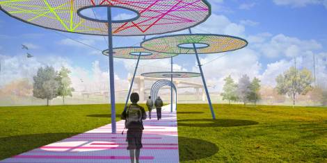 Own the Overpass entry by Jacek Kolasksi and Roberto Rovira of FIU with YMCA Youth.