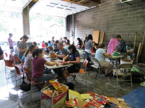 Activate Good volunteers work on Wilder's Grove Project.