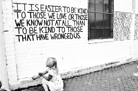 The Light of Human Kindness mural in Richmond, VA.