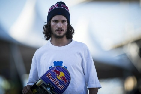Star skater Torey Pudwill supports the new Red Bull skatable sculpture in Seattle.