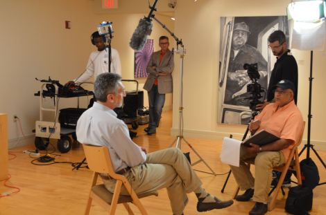 Interviewing Piero Farci at Coral Springs Museum of Art