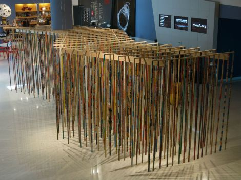 Totem installation by Eduardo Gardin at the MOA in Sept-Oct 2013