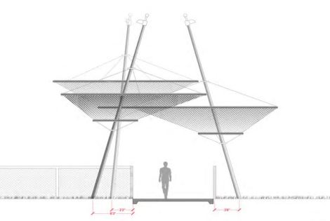 Shade structure for Lauderhill Overpass at Middle School
