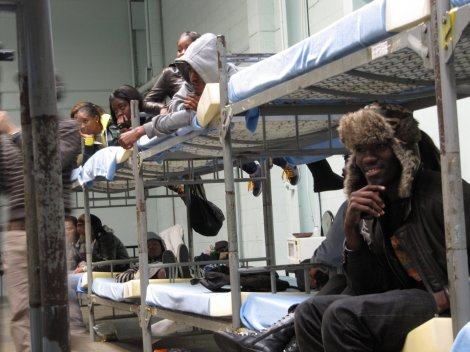Los Angeles homeless shelter 2010